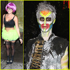 Alexa Vega: Matthew Morrison's Halloween Party with Lucas Grabeel