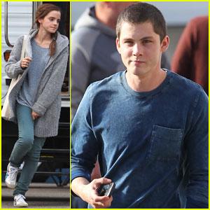 Emma Watson & Logan Lerman: 'Noah' Set Pics!