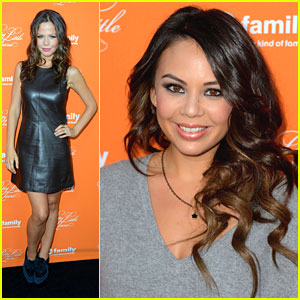 Janel Parrish: PLL Halloween Screening with Tammin Sursok