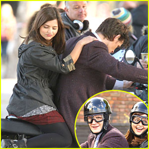 Jenna-Louise Coleman: Motorcycle Ride with Matt Smith
