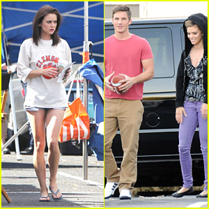 AnnaLynne McCord &#038; Matt Lanter: Football Free Time on '90210' Set