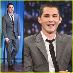 Logan Lerman: 'Late Night with Jimmy Fallon' Appearance