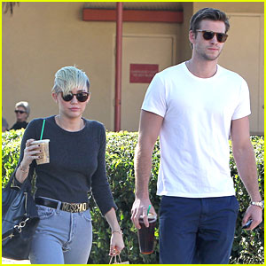 Miley Cyrus & Liam Hemsworth: Starbucks Sweethearts