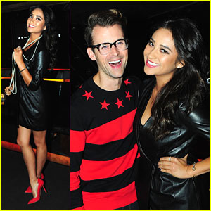 Shay Mitchell: Madonna Concert with Armani Exchange