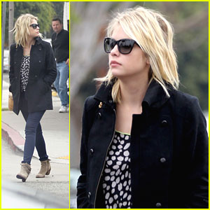 Ashley Benson Bundles Up For Breakfast