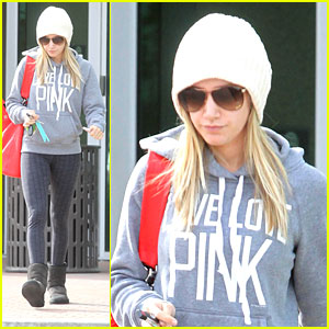 Ashley Tisdale Loves Pink