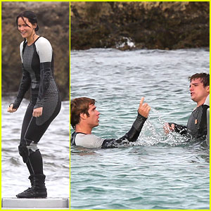Josh Hutcherson Dives Into Quarter Quell with Jennifer Lawrence &#038; Sam Claflin in Hawaii