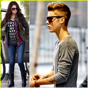 Selena Gomez & Justin Bieber: Separate Saturday Sightings