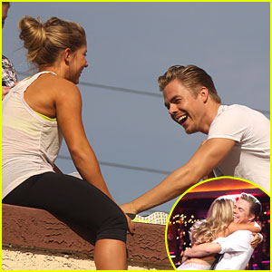 Shawn Johnson & Derek Hough: 'Dancing' On The Rooftop