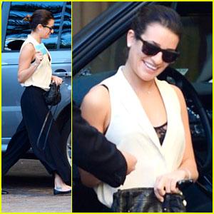 Lea Michele: Montage Hotel Stop After Christmas