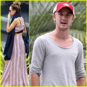 Tom Felton & Jade Olivia: Lunch in Miami