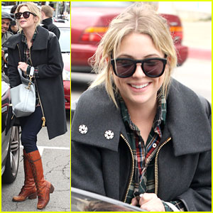 Ashley Benson Runs Around Town