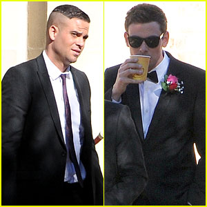 Cory Monteith: 'Glee' Set With Mark Salling!