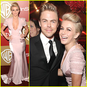 Julianne Hough: Golden Globe After Parties with Brother Derek