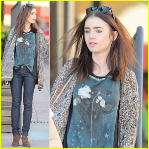 Lily Collins: Vegan Lunch Lady