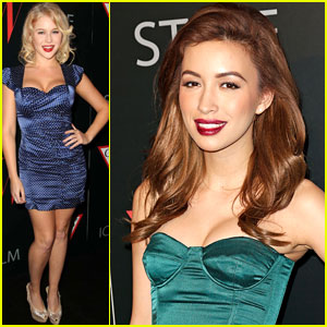 Renee Olstead & Christian Serratos: '30 Years Of Fashion and Film' Red Carpet