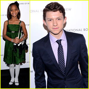 Quvenzhane Wallis & Tom Holland Win NBR's Breakthrough Awards!
