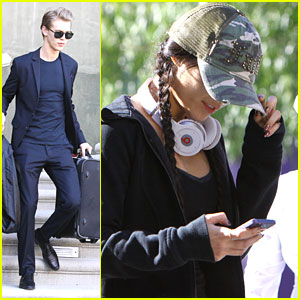 Vanessa Hudgens Works It Out; Austin Butler Packs Up