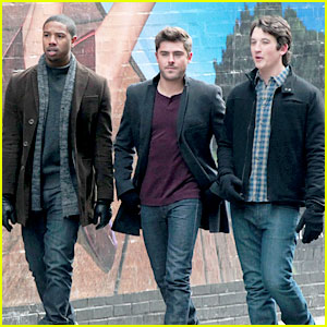 Zac Efron & Miles Teller Film 'Dating' with Michael B. Jordan