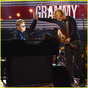 Ed Sheeran & Elton John Perform 'A Team' at Grammys 2013 -- WATCH NOW