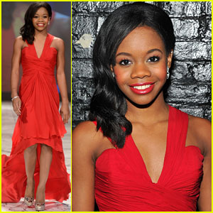 Gabby Douglas: Heart Truth Red Dress Fashion Show 2013