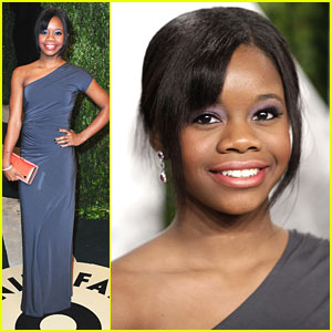 Gabby Douglas: Vanity Fair Oscar Party 2013