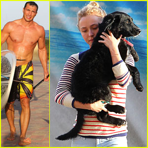 Hayden Panettiere: Beach Day with Wladimir Klitschko!