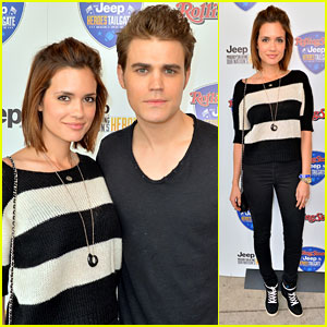 Paul Wesley & Torrey DeVitto: Super Bowl Sweethearts!