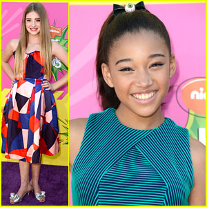Amandla Stenberg & Willow Shields - Kids' Choice Awards 2013 Red Carpet