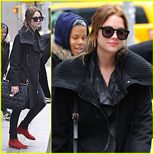 Ashley Benson: Greeting Fans In NYC!