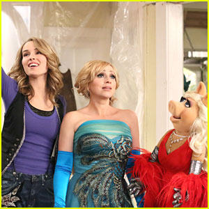 Bridgit Mendler: 'Good Luck' Muppets!