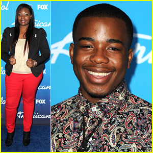 Burnell Taylor & Candice Glover: 'American Idol' Top 10 Finalists Party