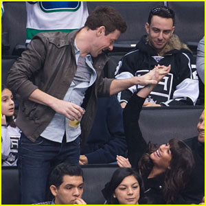 Lea Michele & Cory Monteith: Canucks Couple