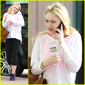 Dakota Fanning: Gym Time!