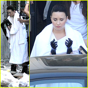 Demi Lovato: 'Heart Attack' Video Shoot!