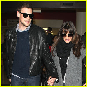 Lea Michele &#038; Cory Monteith: Holding Hands at LAX