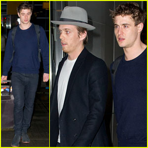 Max Irons & Jake Abel: NYC Arrival!