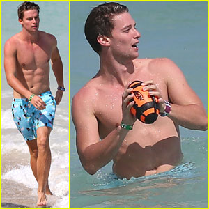 Patrick Schwarzenegger: Shirtless Beach Games!
