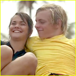 Maia Mitchell cozies into Ross Lynch in the brand-new trailer for Teen