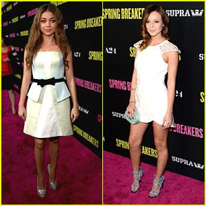 Sarah Hyland & Samantha Droke: 'Spring Breakers' Premiere Pair