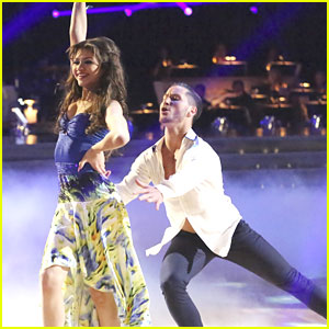 Dancing With The Stars  contestant Zendaya Coleman  whose partner is    Zendaya Dancing With The Stars Dress