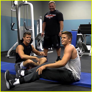 Charlie & Max Carver: 'Teen Wolf' Workout - Watch Now!