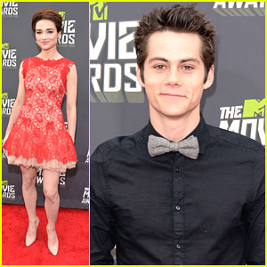 Crystal Reed, Dylan O'Brien & Tyler Posey -- MTV Movie Awards 2013