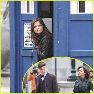 Jenna-Louise Coleman: Tardis Flying in London