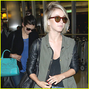 Nina Dobrev & Julianne Hough: LAX After Miami Vacation