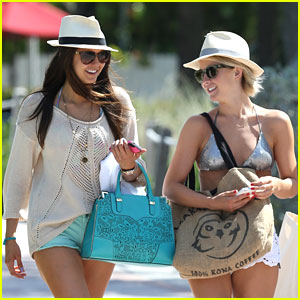 pics for nina dobrev and julianne hough beach. Black Bedroom Furniture Sets. Home Design Ideas