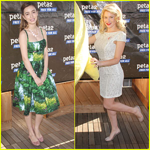 Renee Olstead &#038; Christian Serratos: peta2's Star-Studded Blankets For Shelters Drive