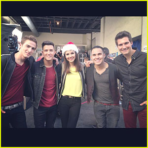 Victoria Justice: On Set with Big Time Rush!