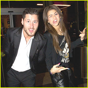Zendaya & Val Chmerkovskiy Watch USA National Ballroom Competition