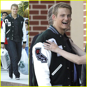 Alexander Ludwig: Varsity Jacket on 'When The Game Stands Tall' Set